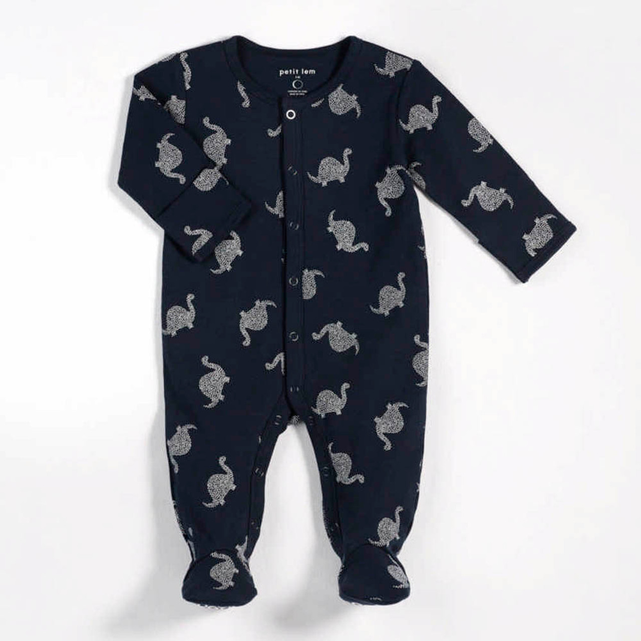 2da4c935c Petit Lem Organic Cotton Sleeper - Oh Dino Navy (9 Months) - Dear ...