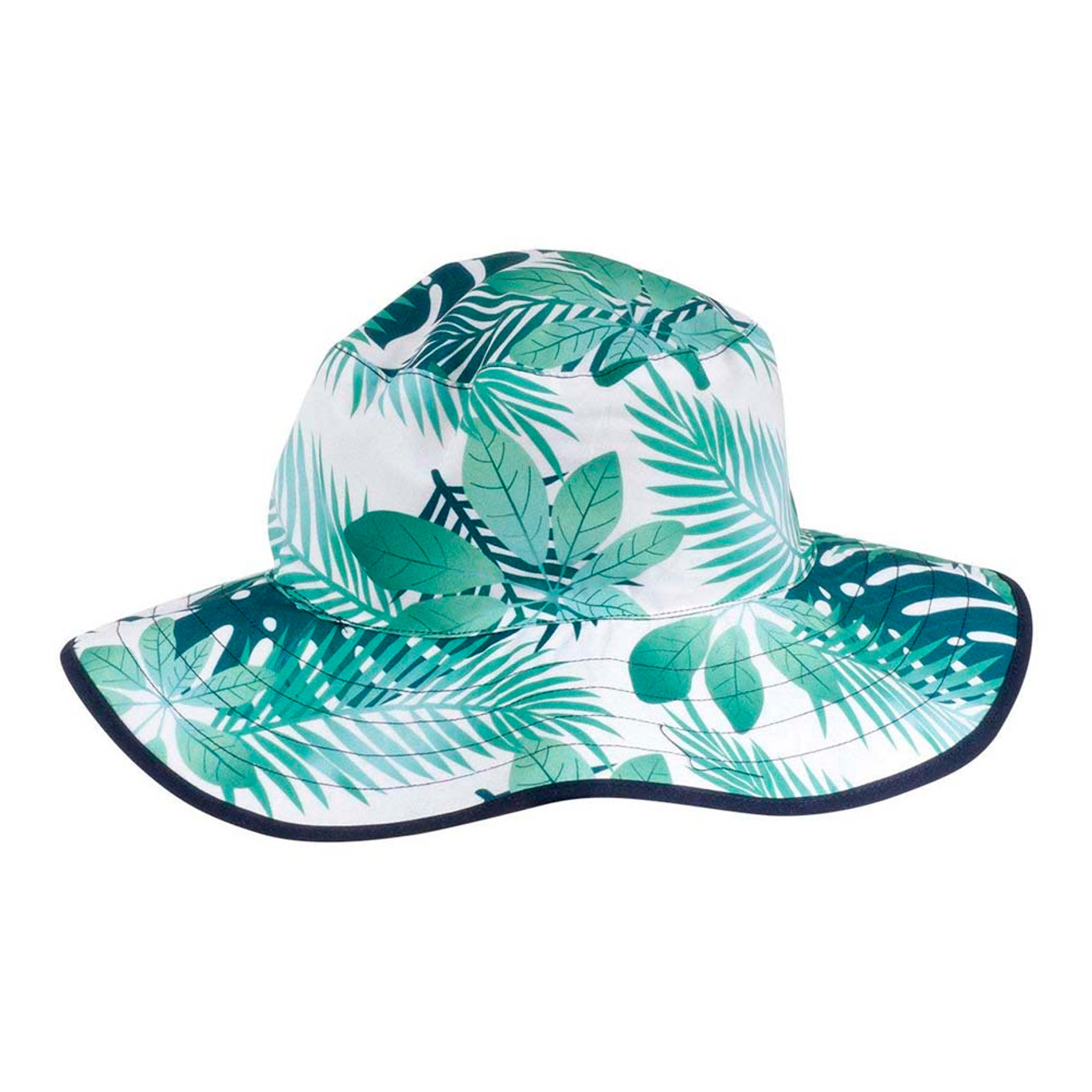 90def2757 Baby Banz Reversible Bucket Hat - Leaf Green/Navy Blue - Dear-Born Baby