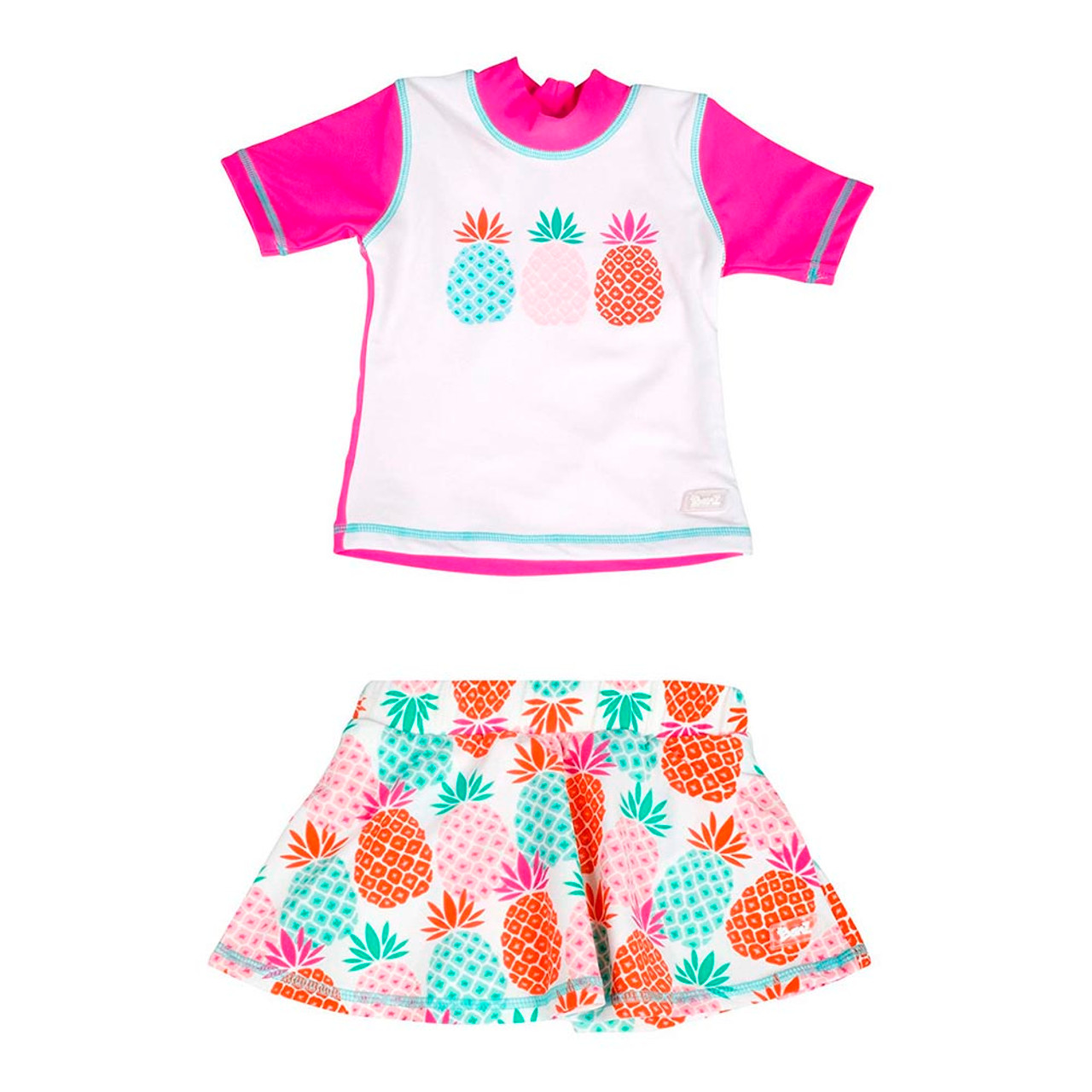 a1c8efb662 Baby Banz Short Sleeved Two-Piece Girls Swimsuit - Pineapple (Size 2 ...