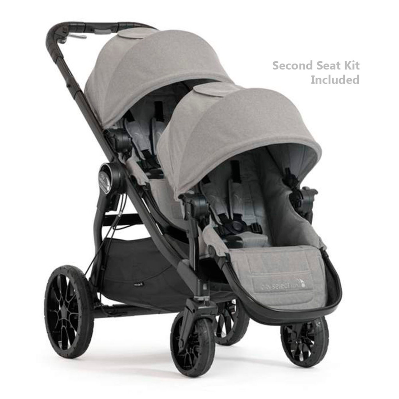 Baby Jogger City Select Lux Stroller Second Seat Combo Slate