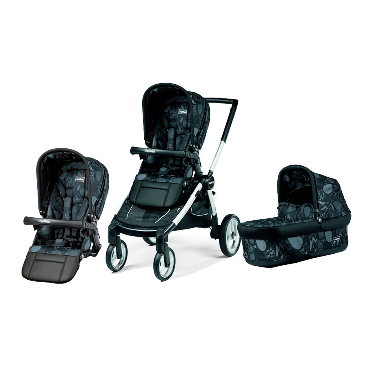 Peg Perego Team With Free Second Seat Double Stroller Combo Universo