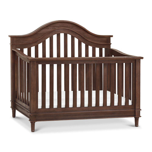 Franklin & Ben Amelia 4-in-1 Convertible Crib With Toddler Bed Conversion Kit - Weathered Cocoa