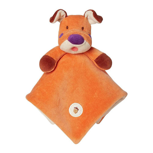 My Natural Organic Lovie Blanket - Orange Dog
