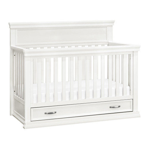 Franklin & Ben Langford 4-in-1 Convertible Crib with Storage Drawer - Warm White