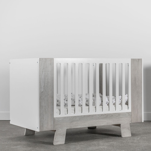Dutailier Pomelo 3-in-1 Convertible Crib - Rustic Grey