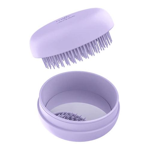 Milk & Sass Macaron Compact Hair Brush - Lavender