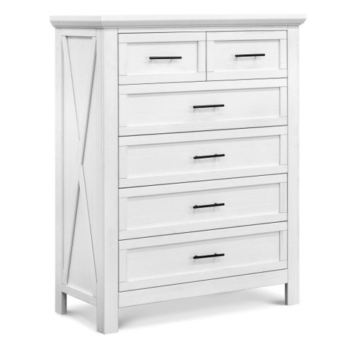 Franklin & Ben Emory Farmhouse 6-Drawer Chest - Linen White