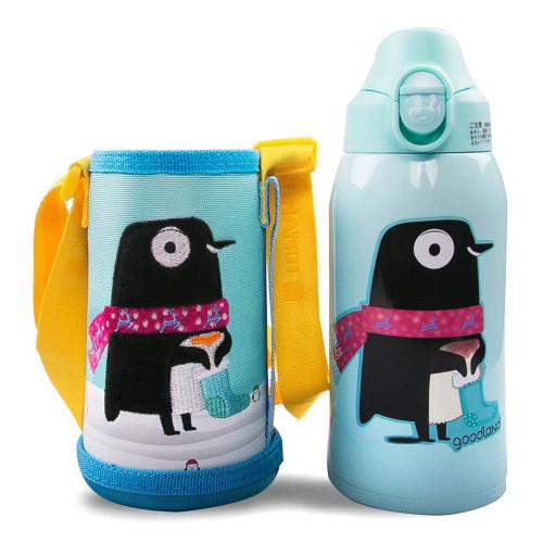 Kumamot 3-Way Kids SUS Vacuum Water Bottle (600ml) - Penguin