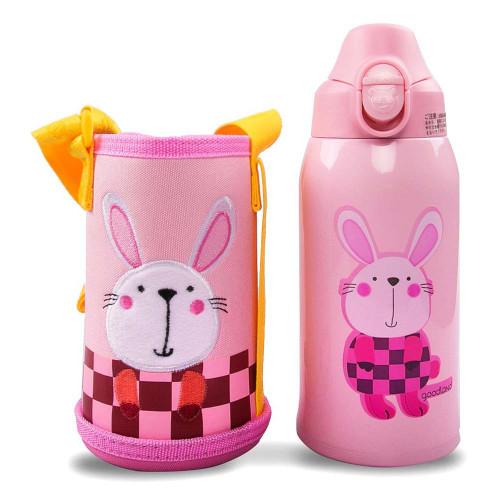 Kumamot 3-Way Kids SUS Vacuum Water Bottle (600ml) - Rabbit