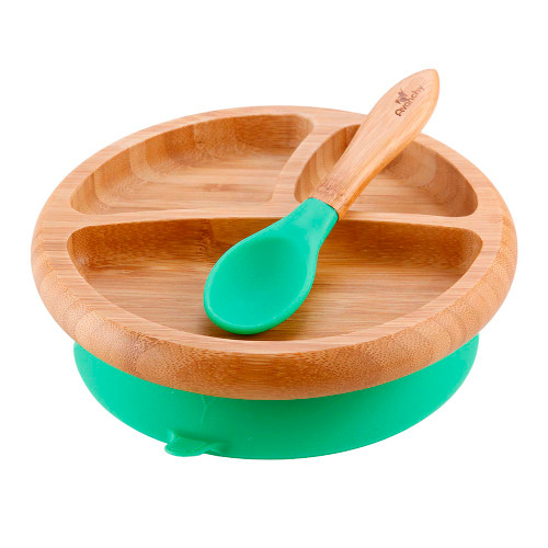 Avanchy Divided Suction Plate Green