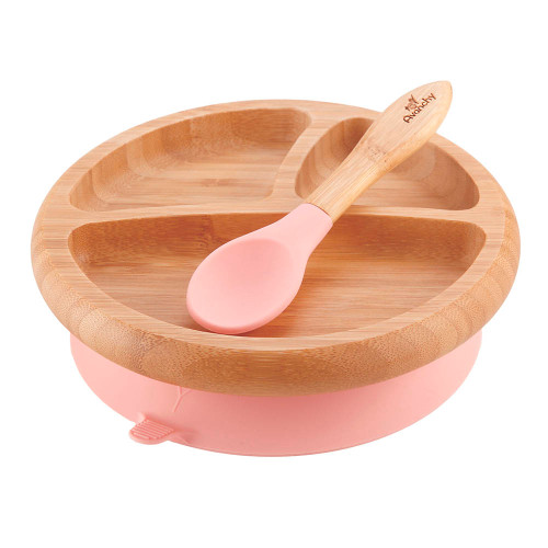 Avanchy Divided Suction Plate Pink
