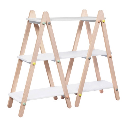 Babyletto Dottie Bookcase - White and Washed Natural