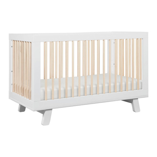 Babyletto Hudson 3-in-1 Convertible Crib - White and Washed Natural