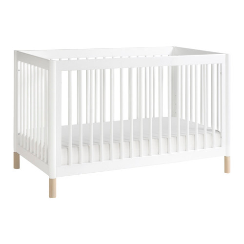 Babyletto Gelato 4-in-1 Convertible Crib - White and Washed Natural