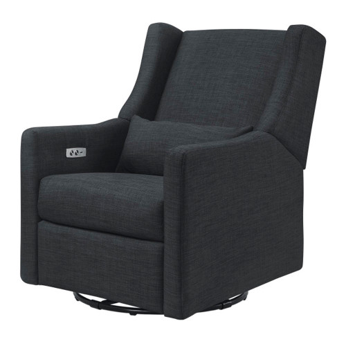 Babyletto Kiwi Electronic Recliner and Swivel Glider with USB Port - Coal Grey