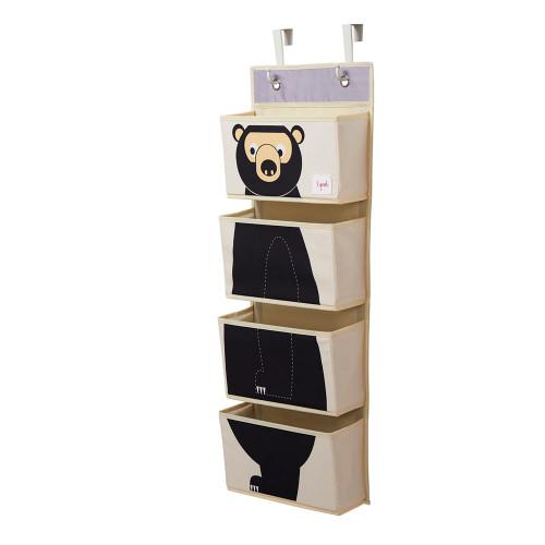 3Sprouts Hanging Wall Organizer - Black Bear