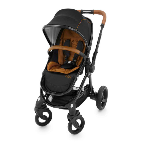 The egg Stroller - Espresso Black with Black Chassis