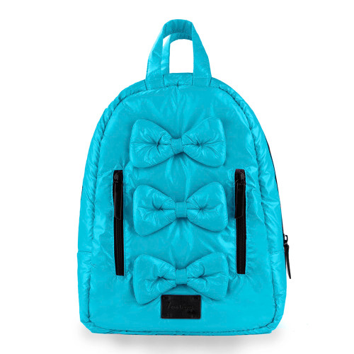 7 A.M. Voyage Mini Bows Backpack - Turquoise