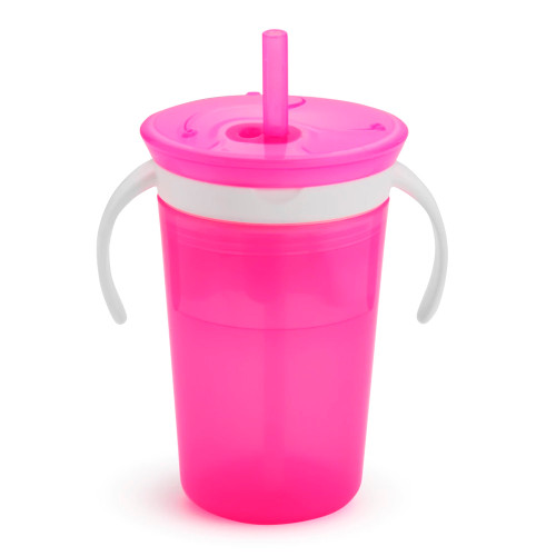 Munchkin SnackCatch & Sip 2-in-1 Snack Catcher and Spill-Proof Cup - Pink