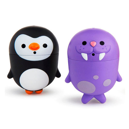 Munchkin CleanSqueeze Mold-Free Bath Squirts - Penguin & Walrus