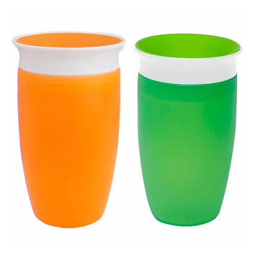 Munchkin Miracle 360 10oz Toddler Cup 2-Pack - Green & Orange