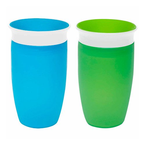 Munchkin Miracle 360 10oz Toddler Cup 2-Pack - Green & Blue