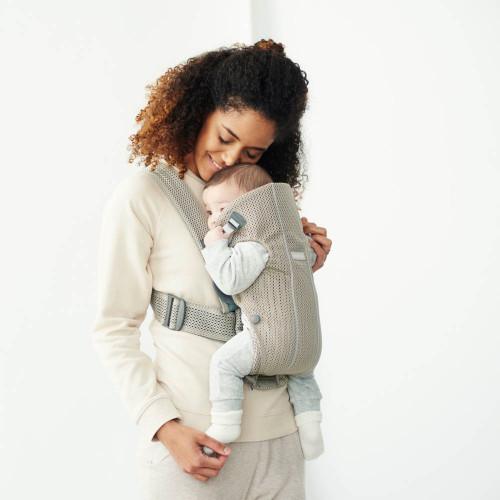 def9fb21067 BabyBjorn Baby Carrier Mini - 3D Mesh Greige - Dear-Born Baby