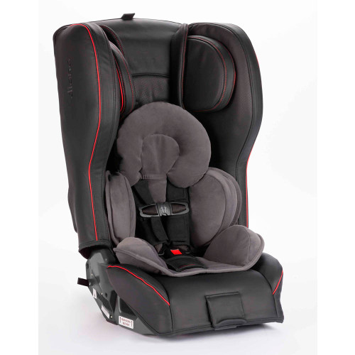 Diono Rainier 2AXT Convertible Car Seat - Black and Red Nappa Leather