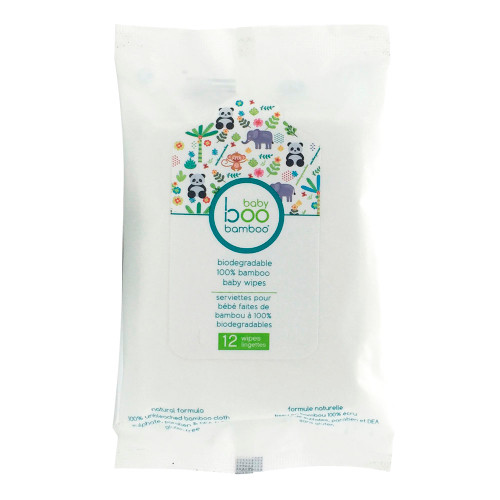 Baby Boo Bamboo Biodegradable Baby Wipes - 12ct
