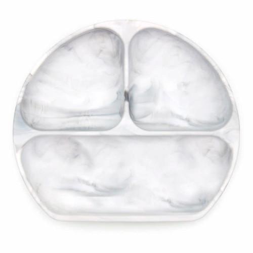Bumkins Silicone Grip Dish - Marble