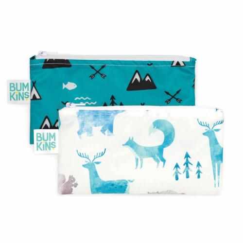 Bumkins Reusable 2-pack Snack Bags - Nature
