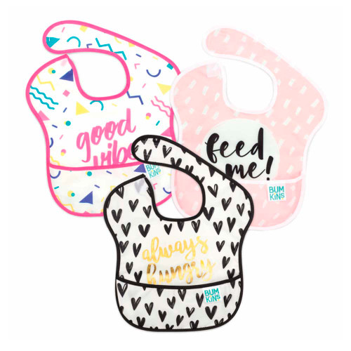 Bumkins 3-Pack SuperBib - Girl Good Vibes/ Always Hungery/ Feed Me
