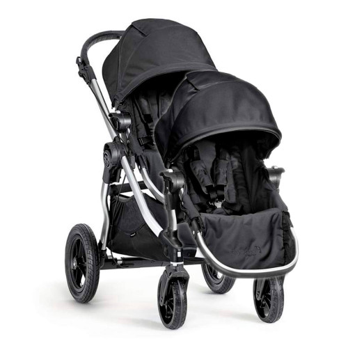 Baby Jogger City Select Silver Frame Stroller and Second Seat Combo - Onyx