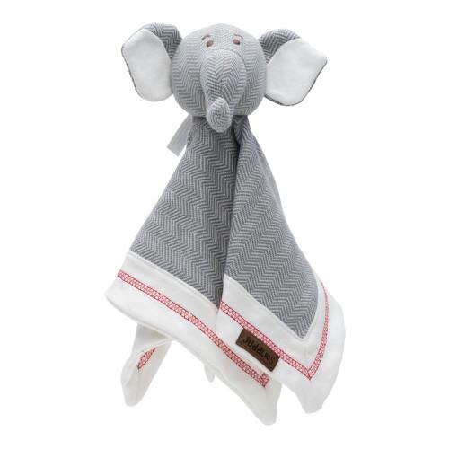 Juddlies Cottage Loveys Comfort Blanket - Driftwood Grey Elephant