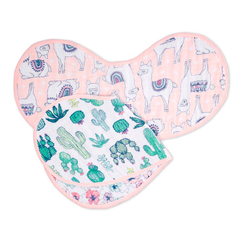 Aden + Anais Classic 2-Pack Burpy Bibs - Trail Blooms