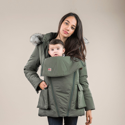 The M Coat 100% Canadian Down 3-in-1 Winter Coat - Pea Green (XS)