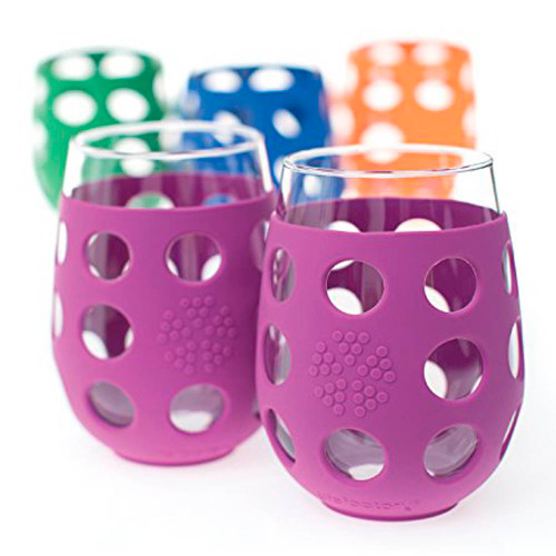 Life Factory 2-Pack Wine Glasses 11oz - Huckleberry