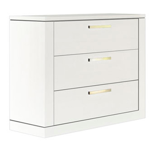 NEST Milano 3-Drawer Dresser - White