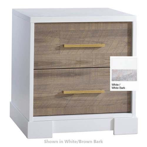 NEST Vibe Nightstand - White & White Bark