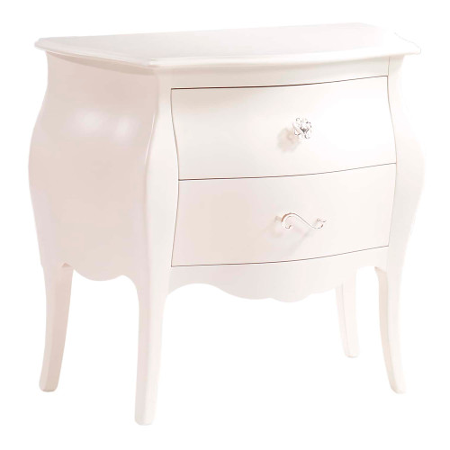 Natart Allegra Nightstand - French White