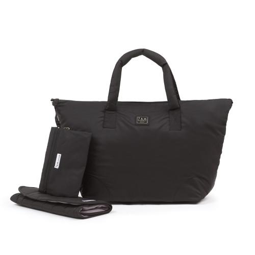 7 A.M. Enfant Roma Large Diaper Bag - Black