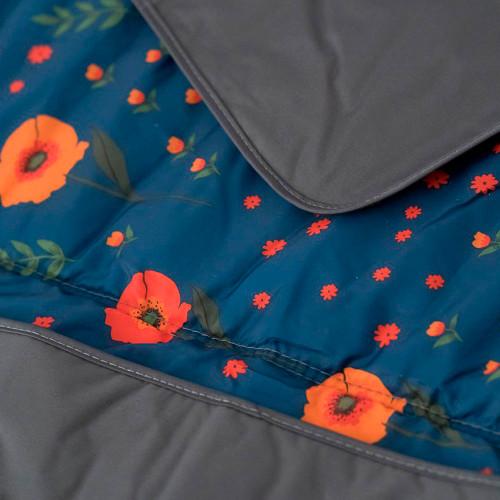 Little Unicorn 5x5 Outdoor Blanket - Midnight Poppy