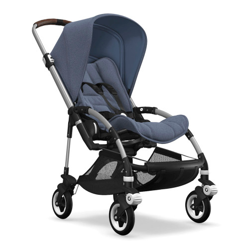 Bugaboo Bee5 Complete Stroller - Blue Melange with Aluminum Chassis