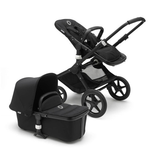 Bugaboo Fox Complete Stroller - Black with Black Frame