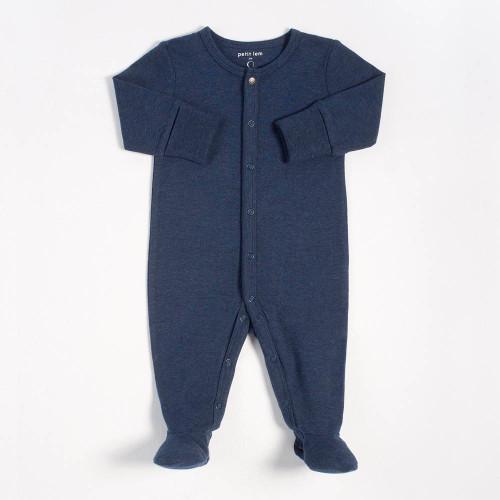 Peit Lem Essentials Organic Cotton Sleeper - Navy (Newborn)