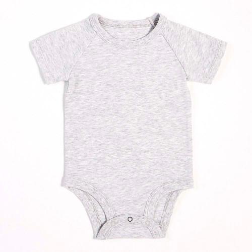Peit Lem Essentials Organic Cotton Onesie - Heather Grey (Newborn)