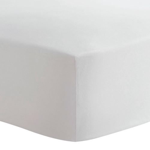 Kushies Flannel Mini Crib Sheet - White