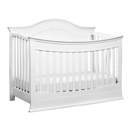 DaVinci Meadow 4-in-1 Convertible Crib with Toddler Bed Conversion Kit - White