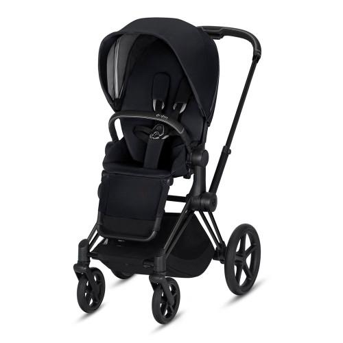 Cybex Priam Complete Stroller - Premium Black with Matte Black Frame