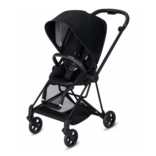 Cybex MIOS Complete Stroller - Premium Black with Matte Black Frame